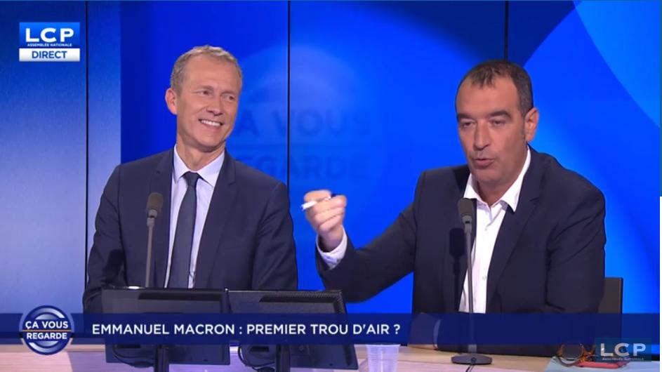 Débat LCP Ça vous regarde «Emmanuel Macron : premier trou d'air ?»