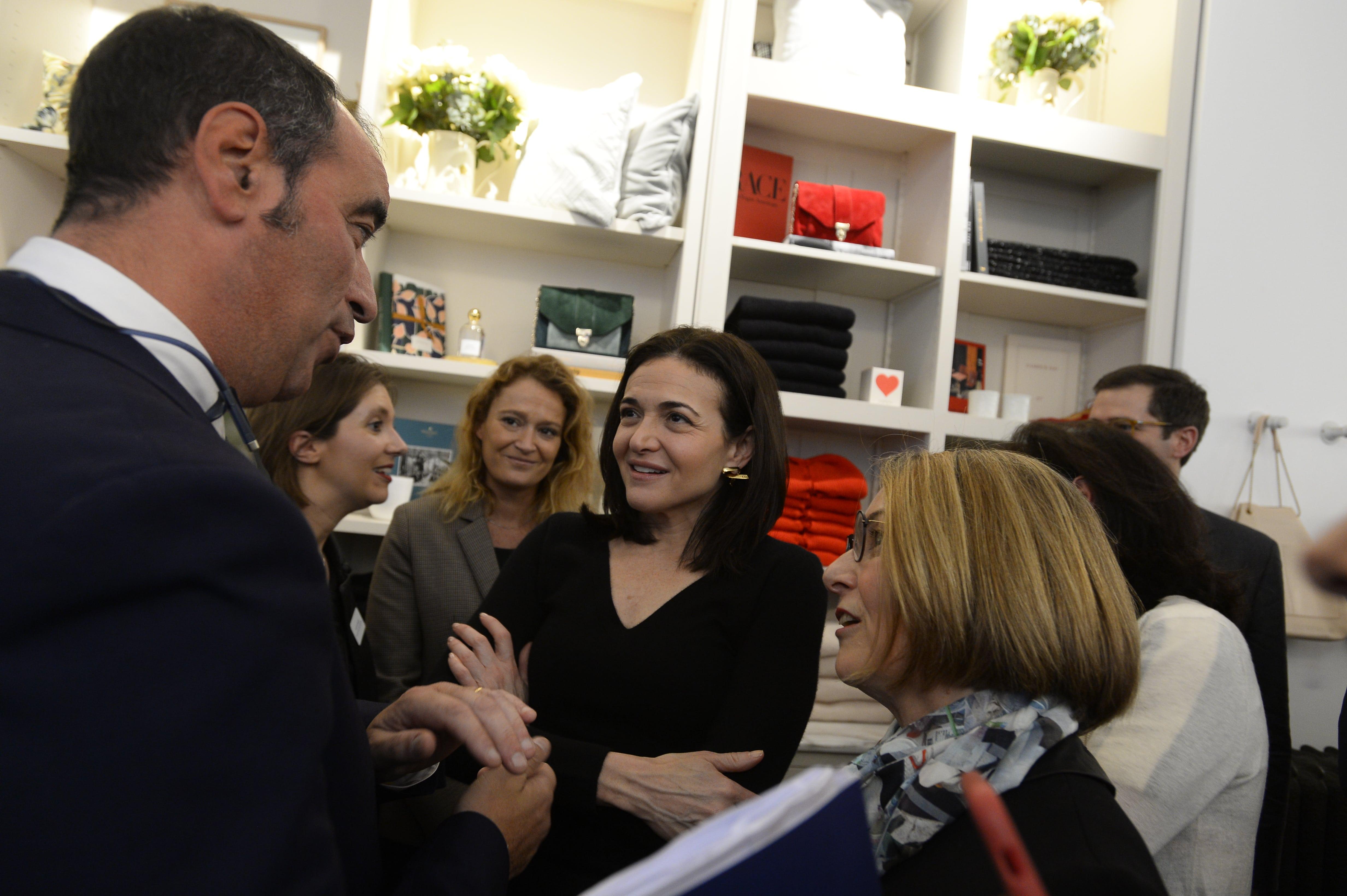 Rencontre avec Sheryl Sandberg, COO de Facebook à Paris