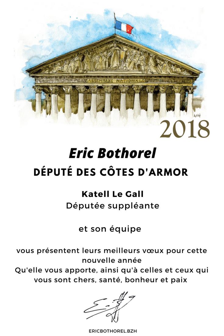 Voeux 2018 : Éric Bothorel vous souhaite une belle année 2018