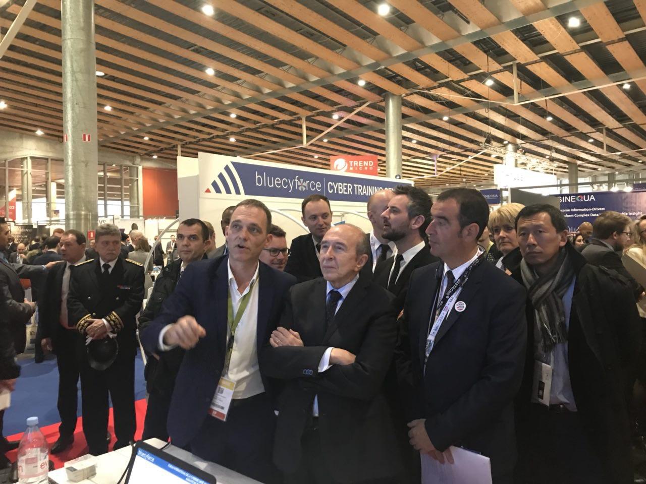 Visite aux côtés du Ministre d'État Gérard Collomb au FIC 2018