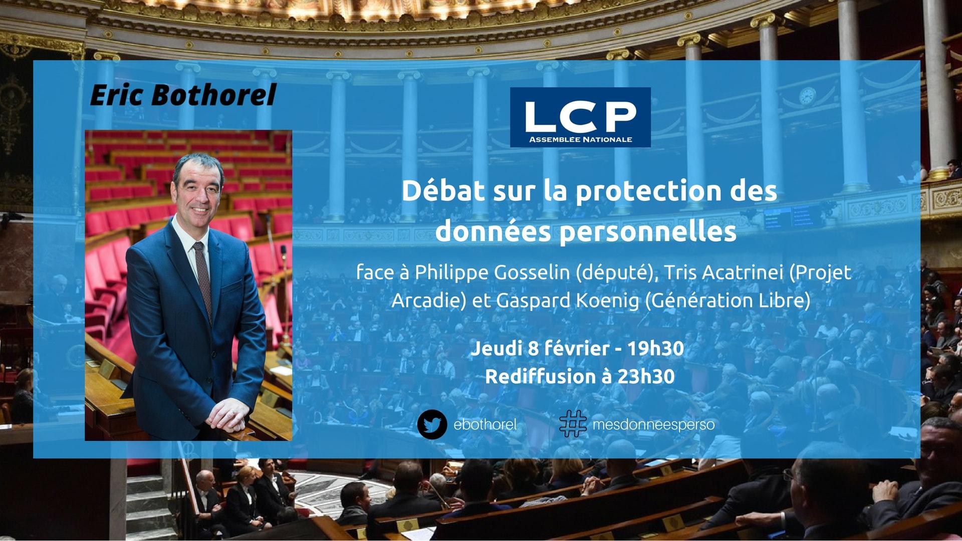 Débat sur LCP sur la protection des données personnelles jeudi 8 février à 19h30