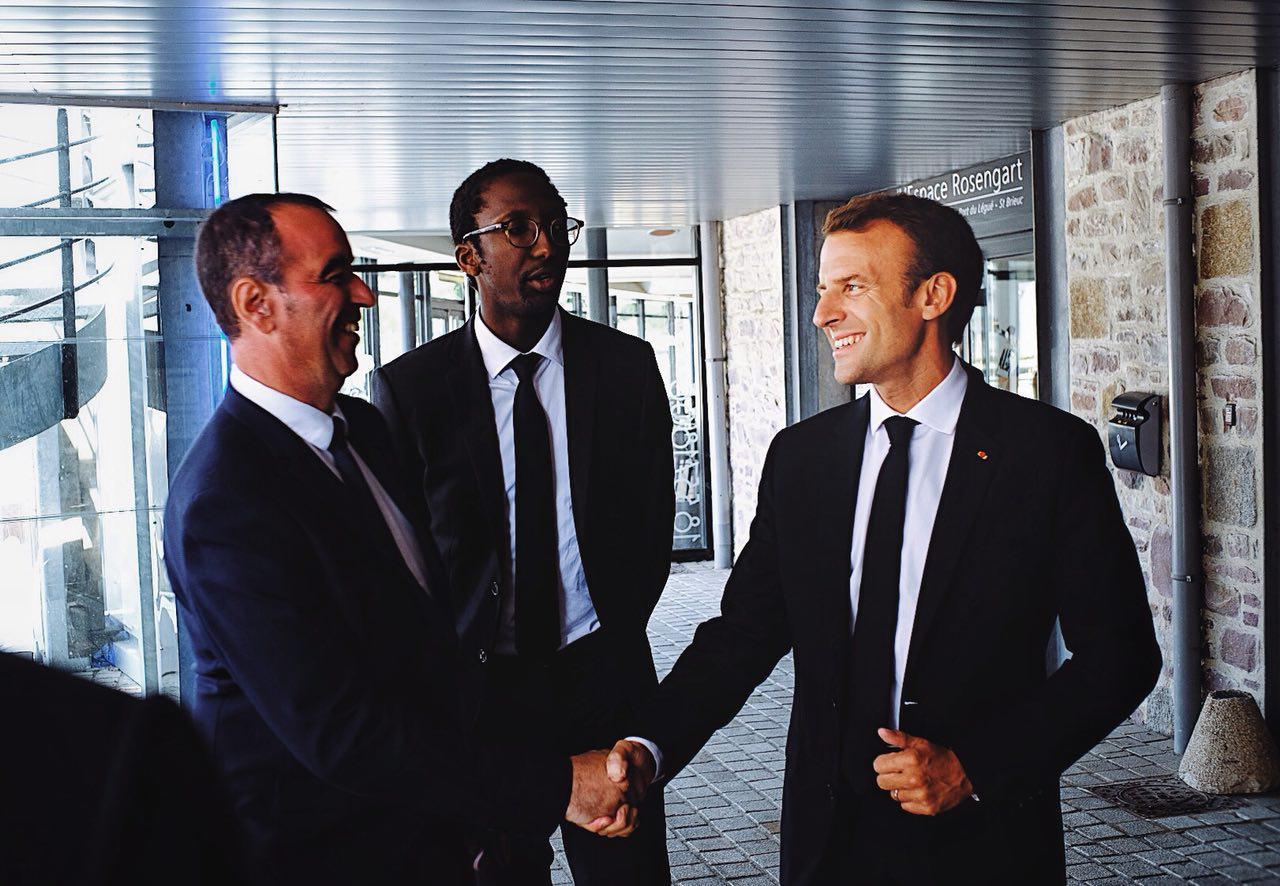 Déplacement d'Emmanuel Macron en Bretagne